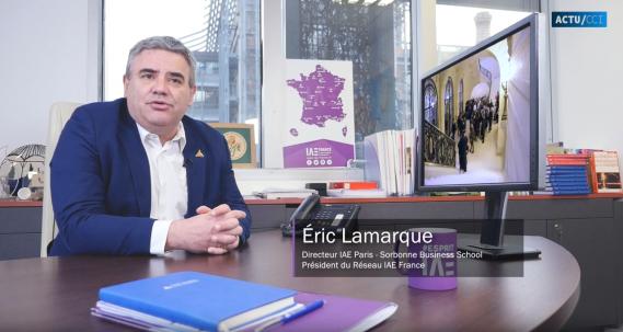 Eric Lamarque, nouveau directeur de l'IAE de Paris - Sorbonne Business School